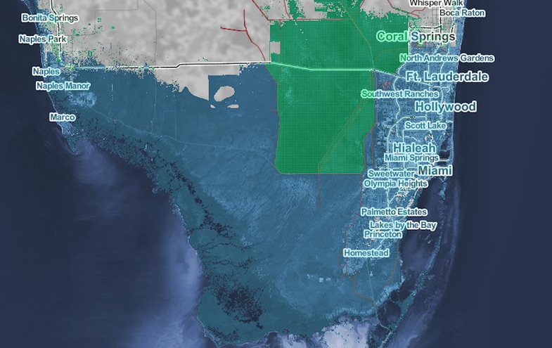 Rising Sea Levels Map Surging Seas: Sea level rise analysis by Climate Central