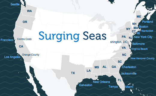 Surging Seas Sea Level Rise Analysis By Climate Central - Map of flooding in us