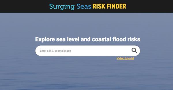 Surging Seas Risk Finder - Height above sea level finder
